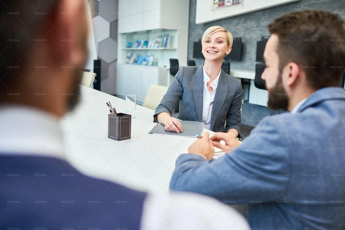 Smiling Business Woman Meeting ...: Stock Photos