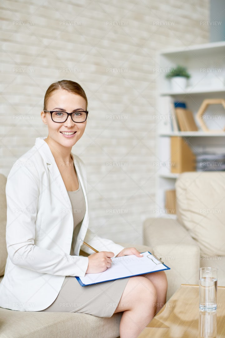 Beautiful Female Psychiatrist...: Stock Photos