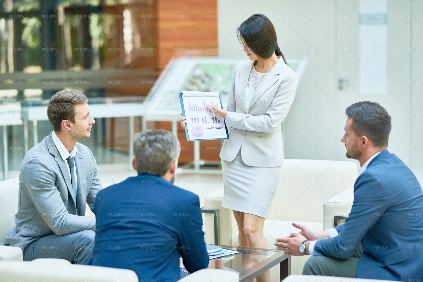 Working Meeting Of Financial...: Stock Photos