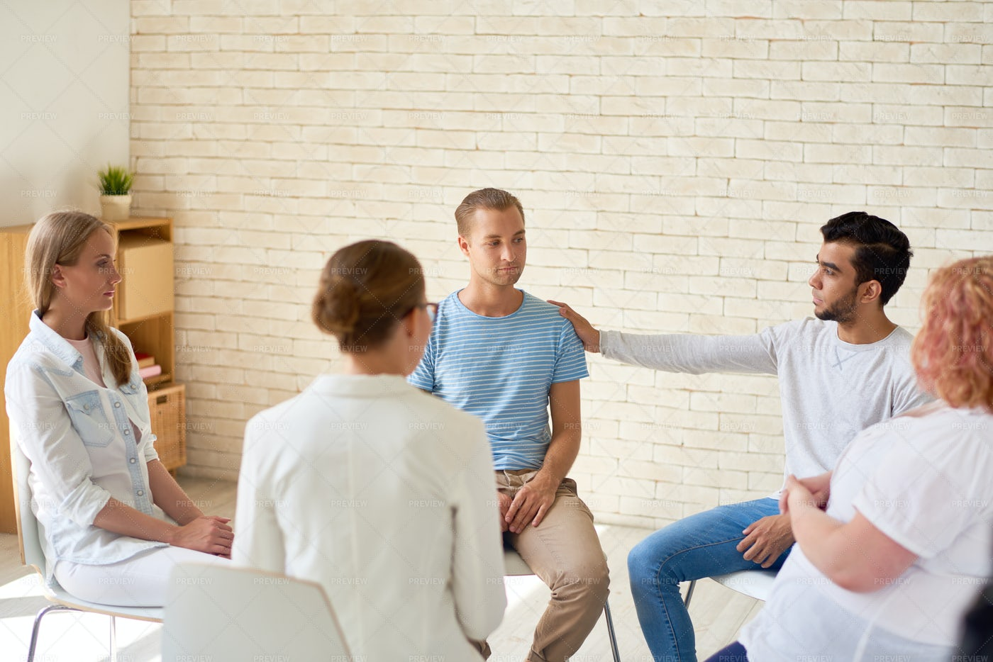 Mental Issues Support Group: Stock Photos