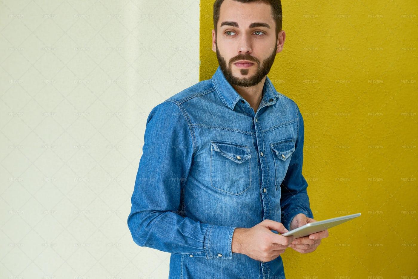 Portrait Of Handsome Designer: Stock Photos