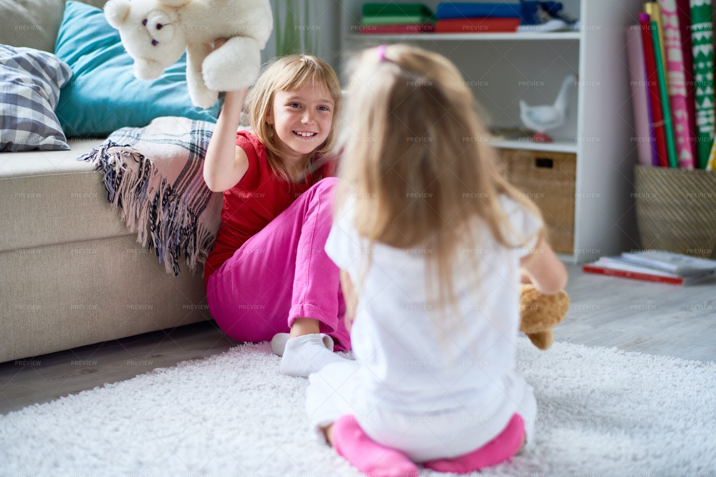Lovely Moments Of Happy Childhood: Stock Photos