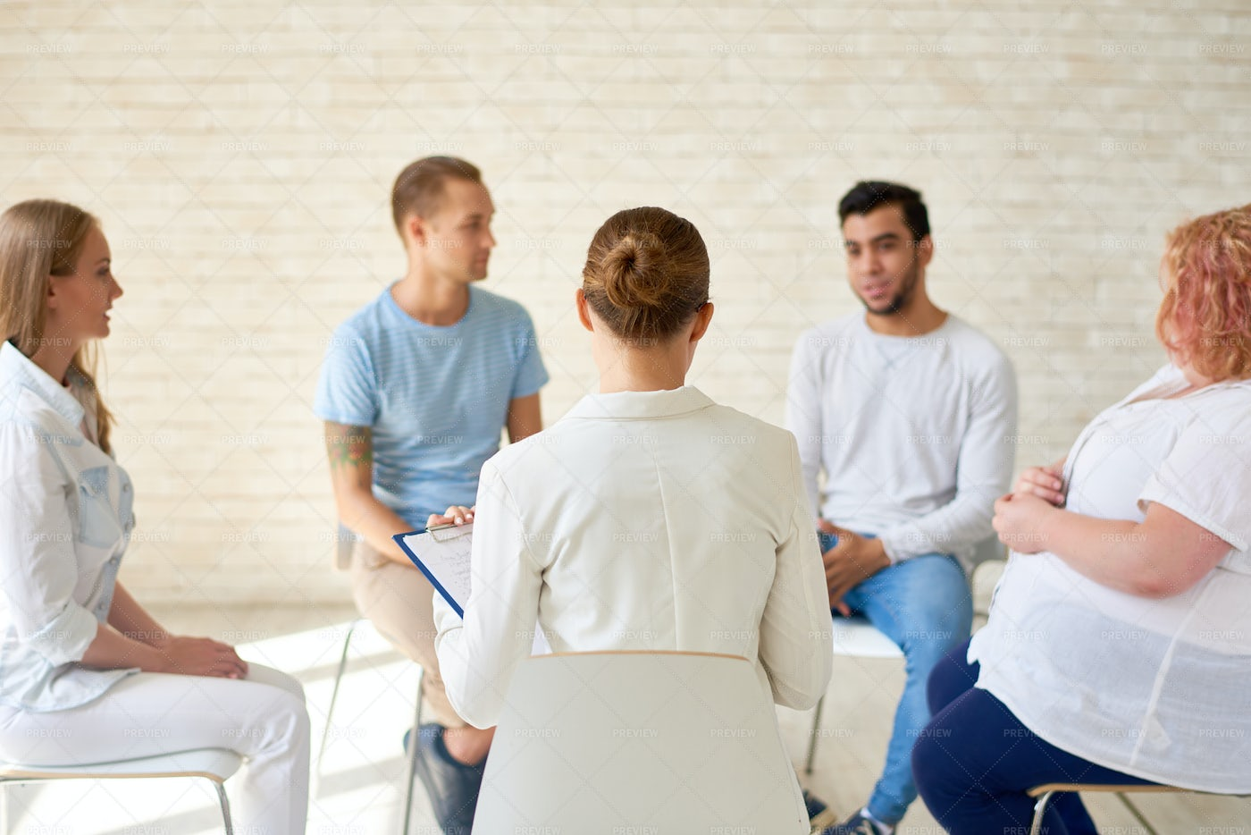 Young People In Group Training...: Stock Photos