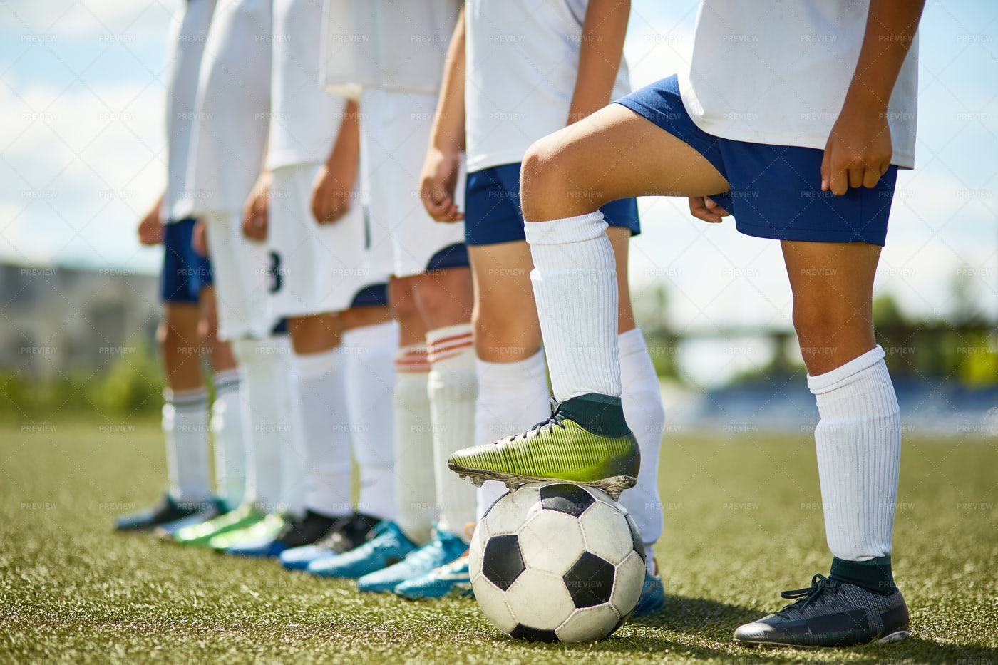 Junior Football Team: Stock Photos