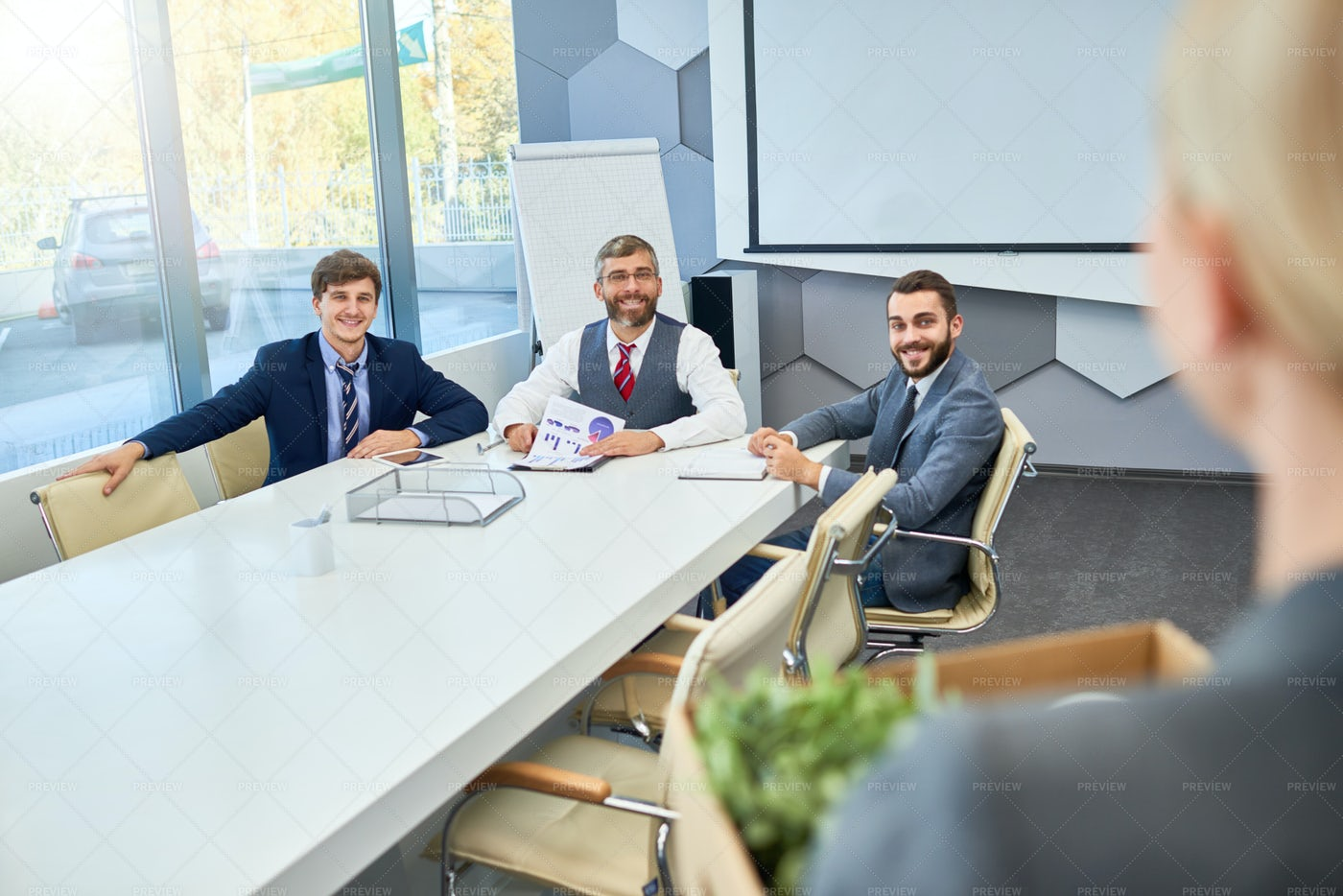 Job Interview In Business Company: Stock Photos