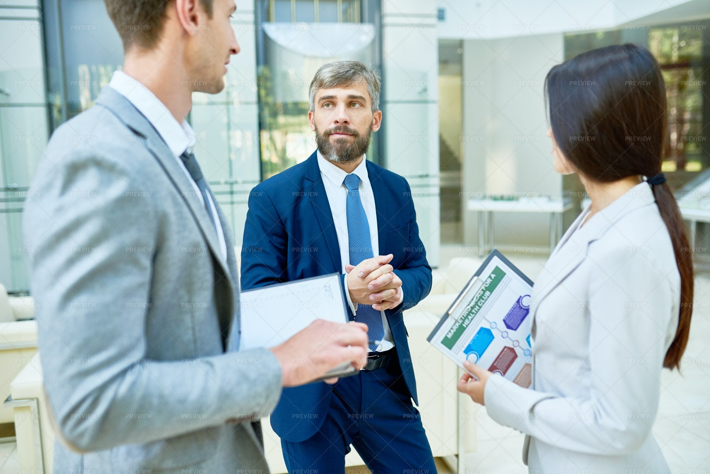 Business People Meeting In Office...: Stock Photos