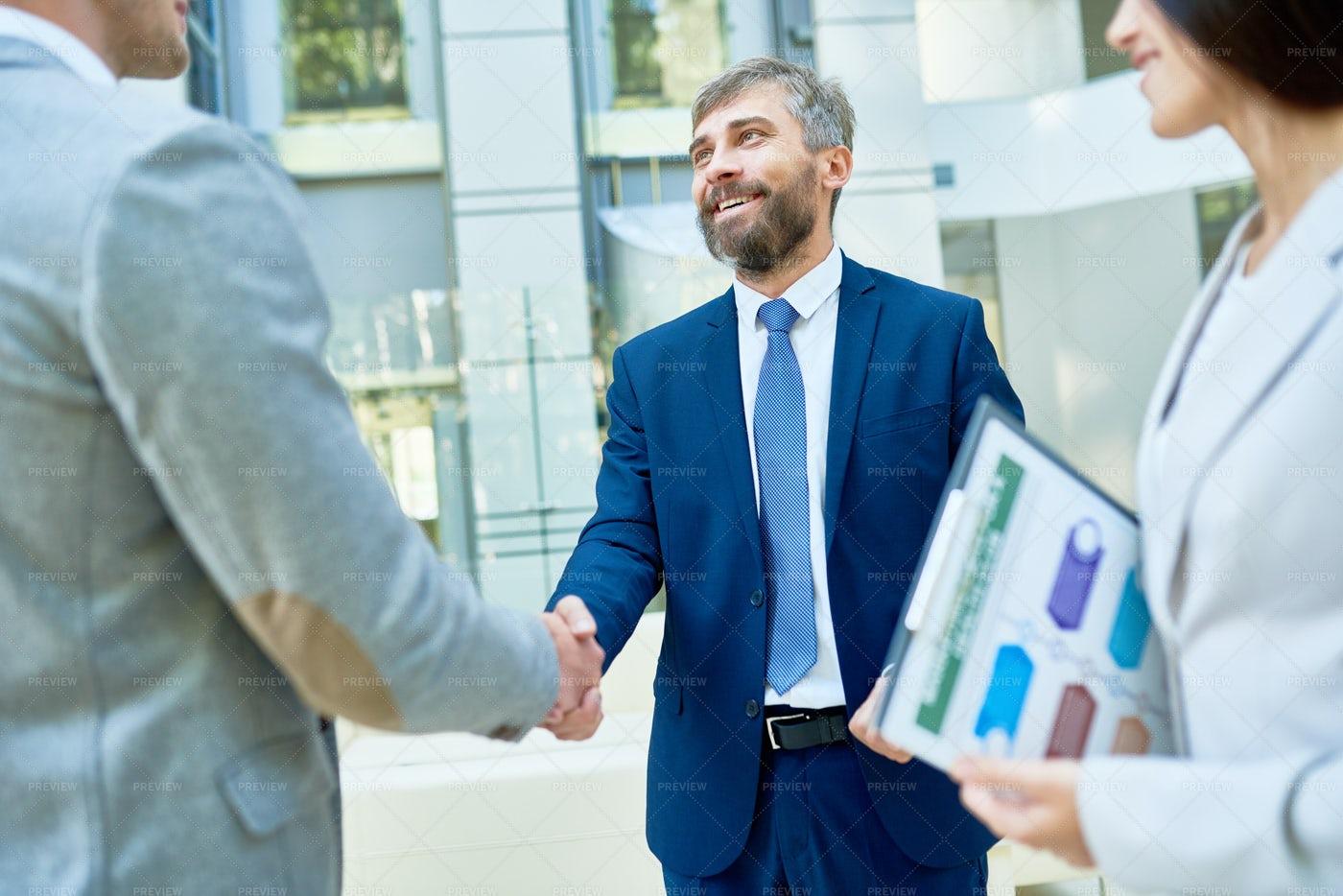 Handshake Of Business Partners: Stock Photos