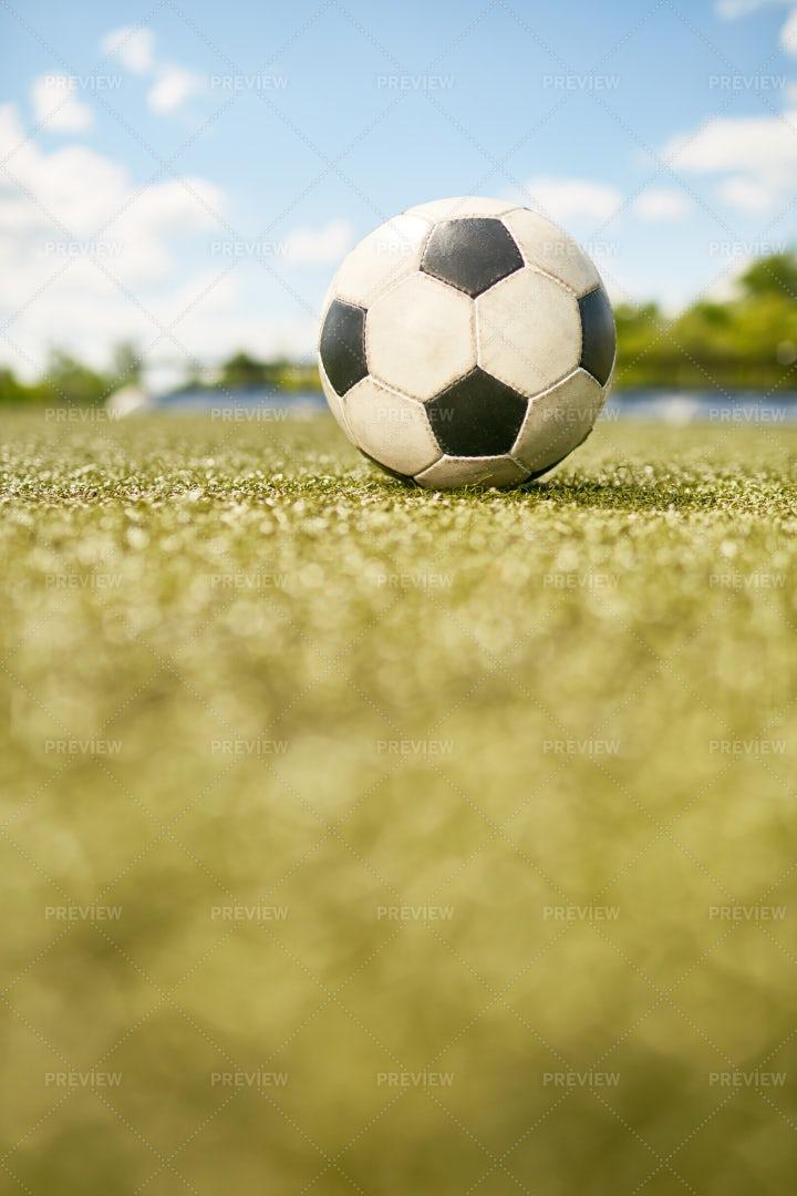 Football Ball On Grass: Stock Photos