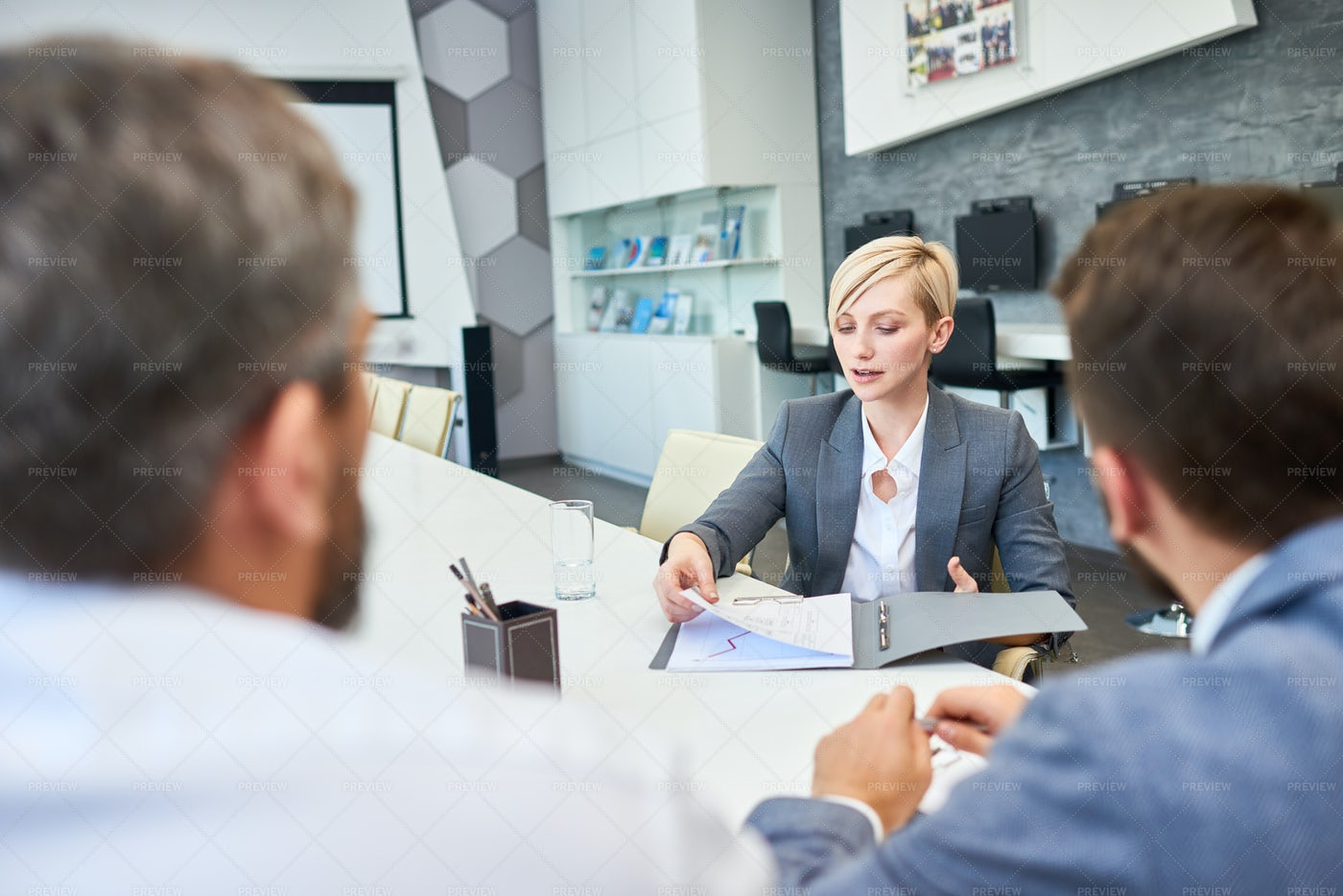 Conducting Negotiations With...: Stock Photos