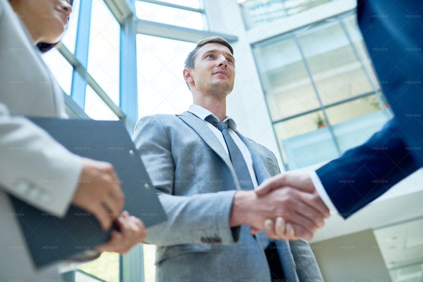 Firm Handshake Of Business Partners: Stock Photos