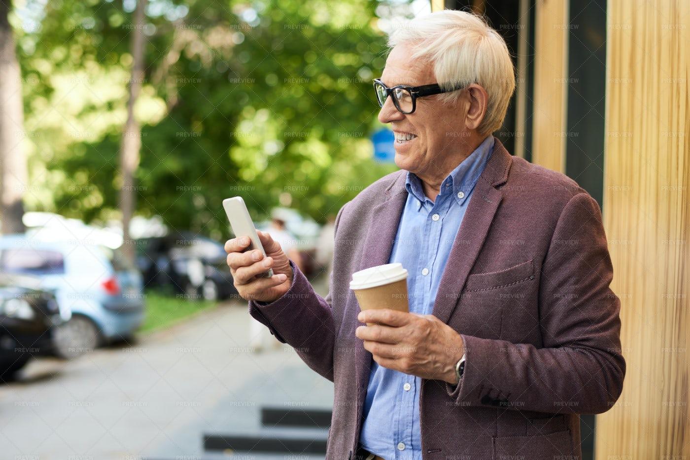 Contemporary Senior Man With...: Stock Photos