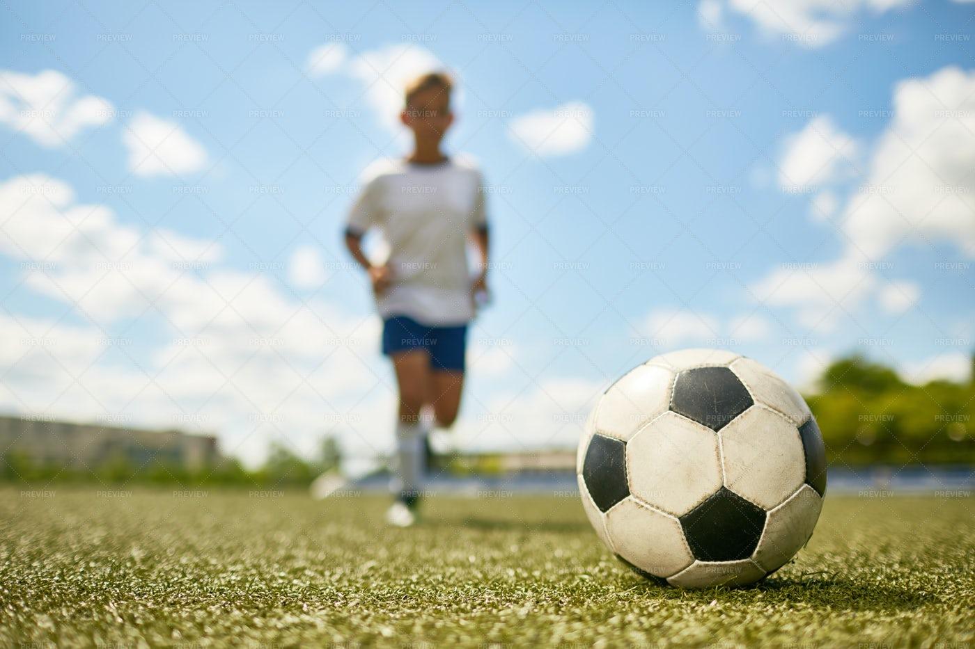 Boy Playing Sports: Stock Photos