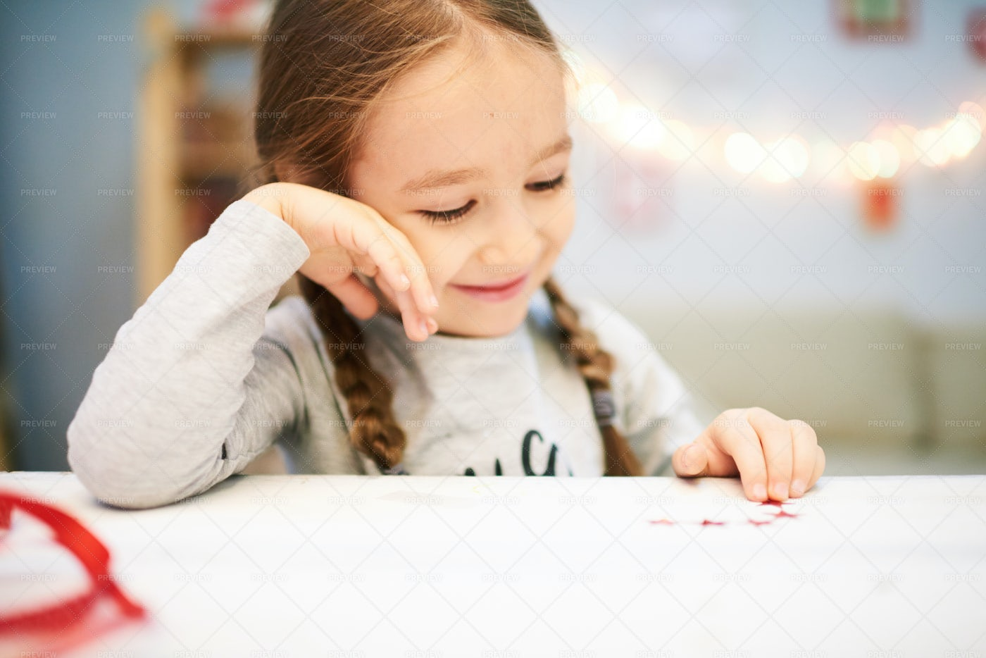 Smiling Little Girl Wrapped Up In...: Stock Photos