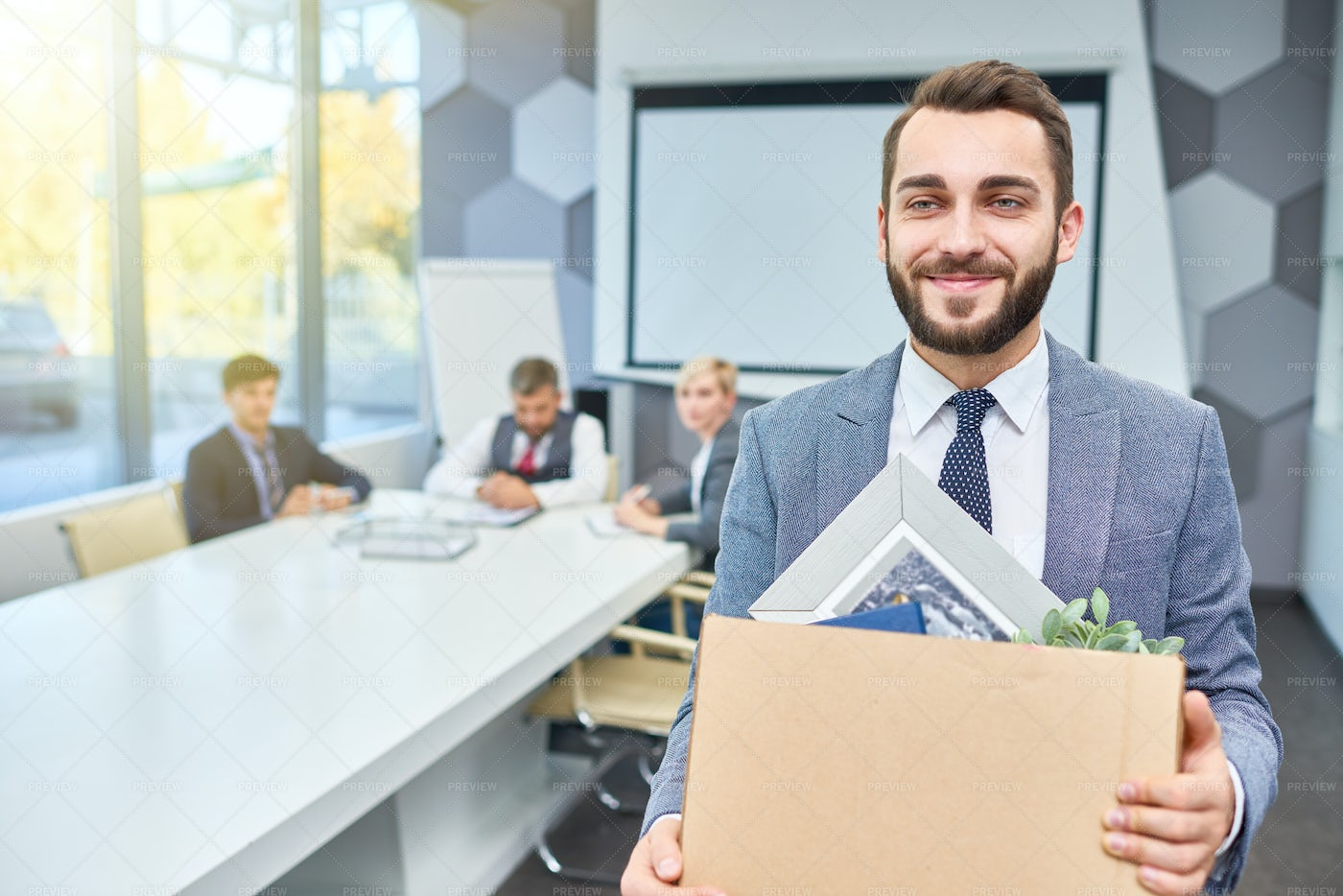 Saying Goodbye To Colleagues: Stock Photos