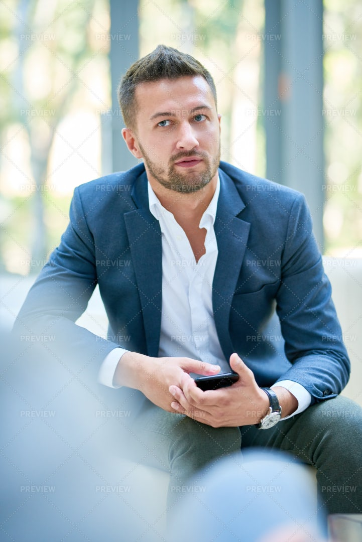 Handsome Entrepreneur At Office...: Stock Photos