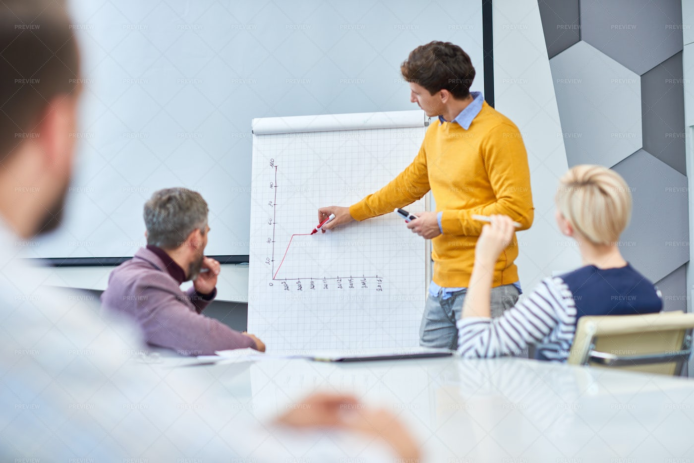 Marketing Meeting In Office: Stock Photos