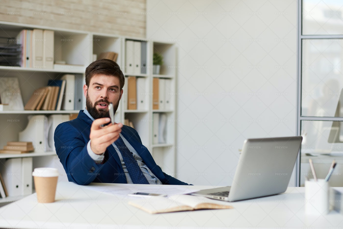 Businessman In Office: Stock Photos