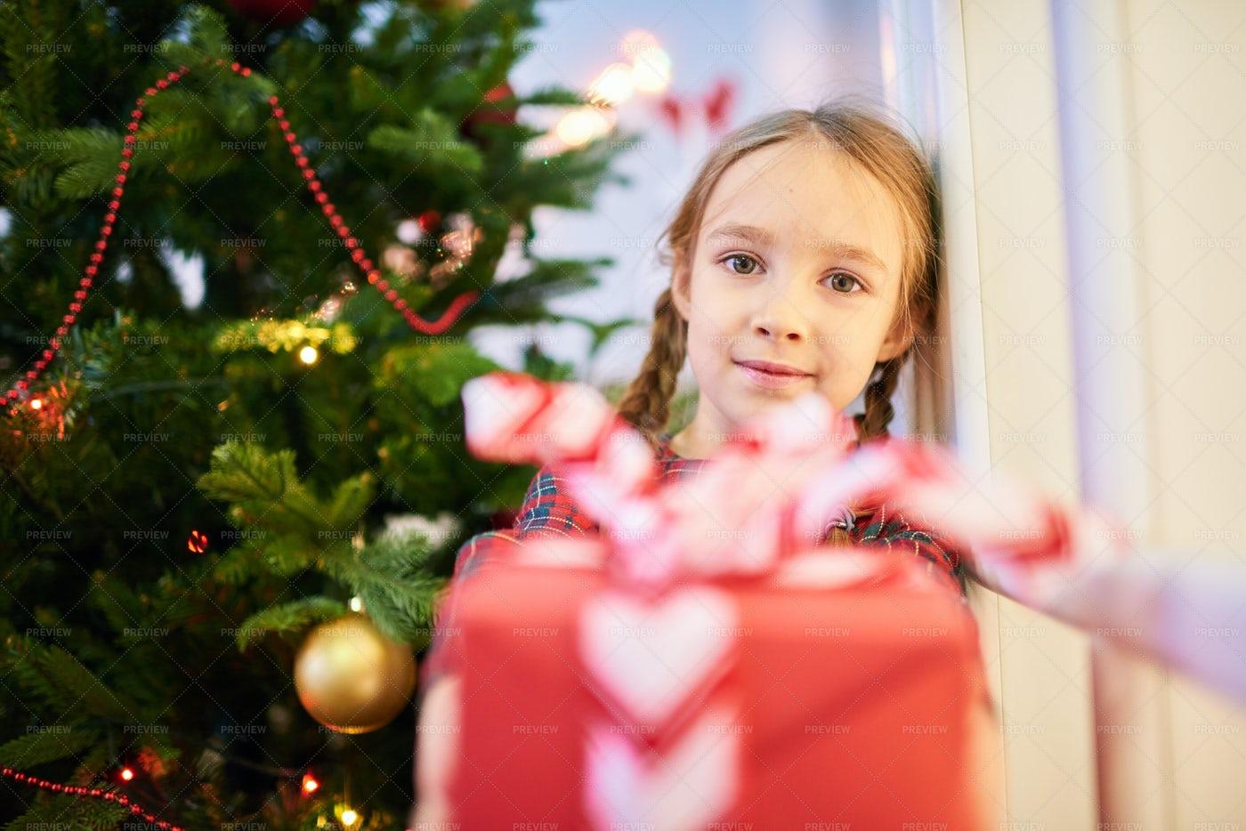 Passing Christmas Present: Stock Photos