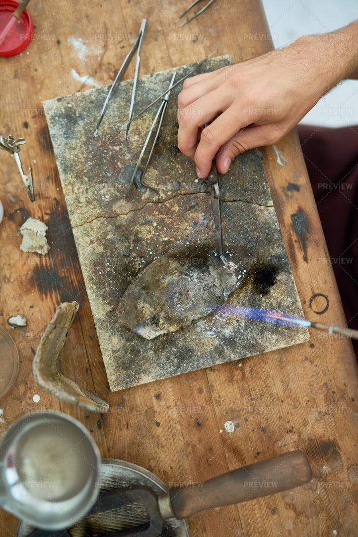 Hands Welding Metal: Stock Photos