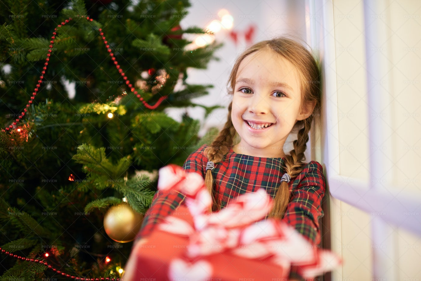It Is Time To Open Christmas...: Stock Photos