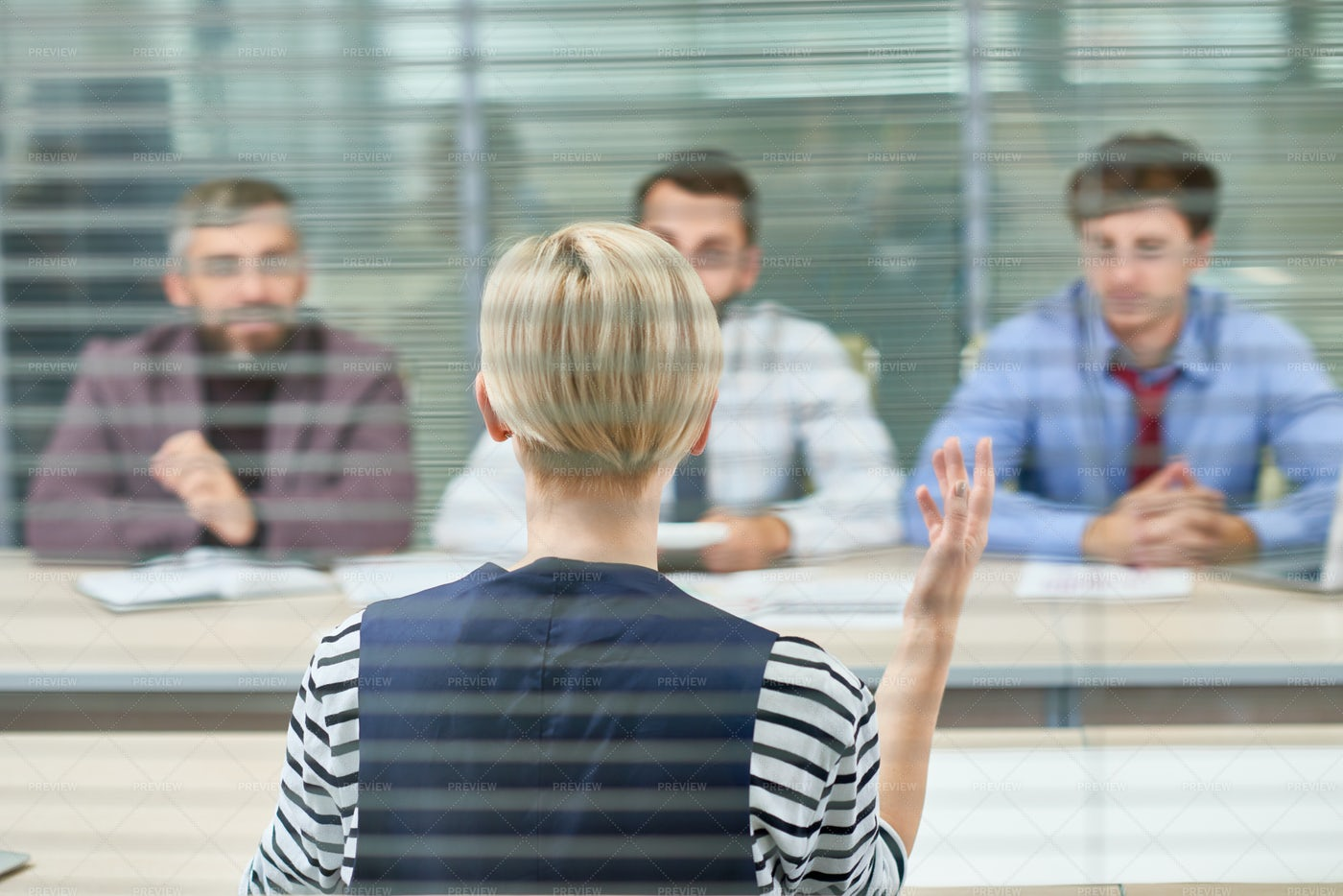 Discussing Start-up Project With...: Stock Photos