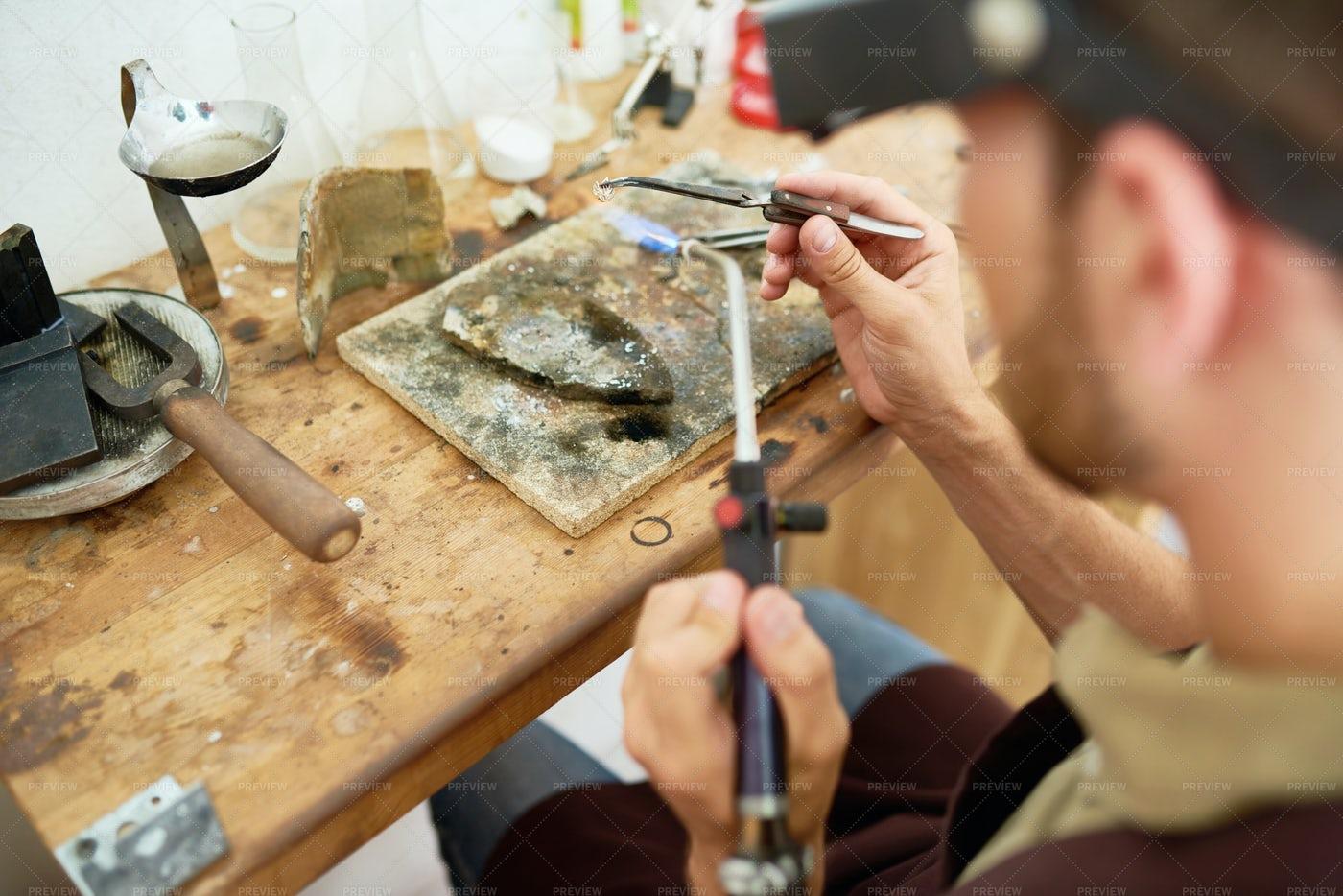 Man Welding Metal: Stock Photos