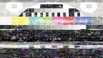 TV Error Test Signal: Stock Video