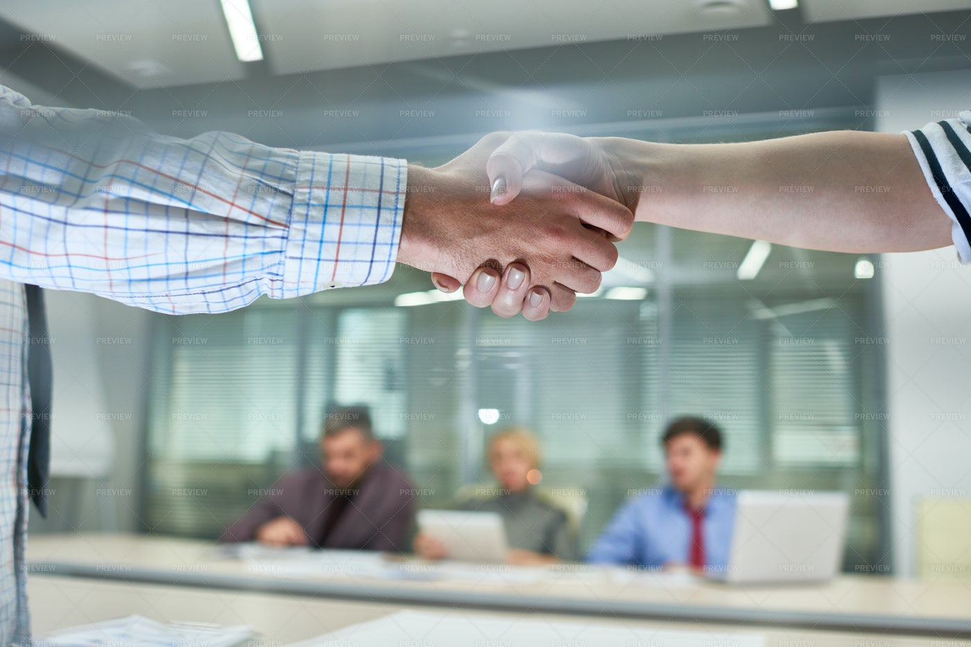 People Shaking Hands At Meeting ...: Stock Photos