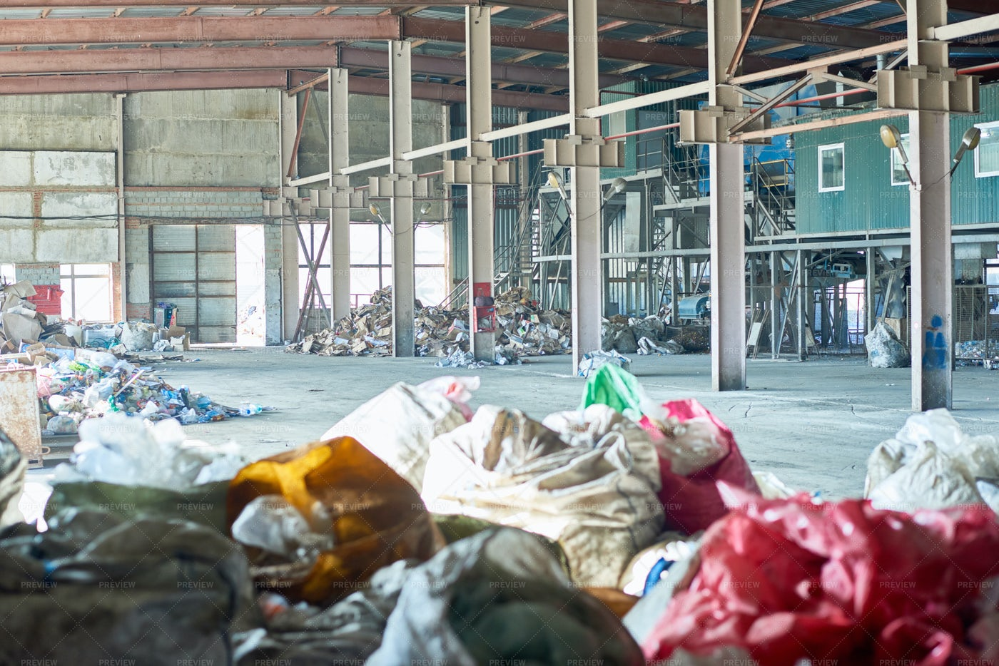Empty Waste Processing Plant: Stock Photos