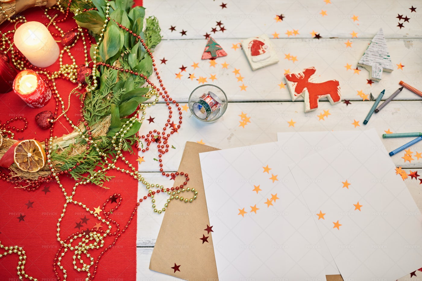 Making Handmade Decorations For...: Stock Photos