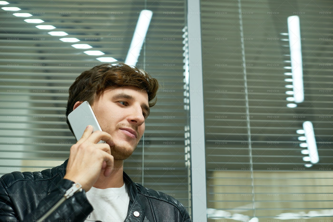 Portrait Of Handsome Manager With...: Stock Photos