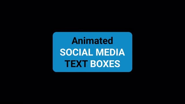 Social Media Text Boxes: Motion Graphics Templates