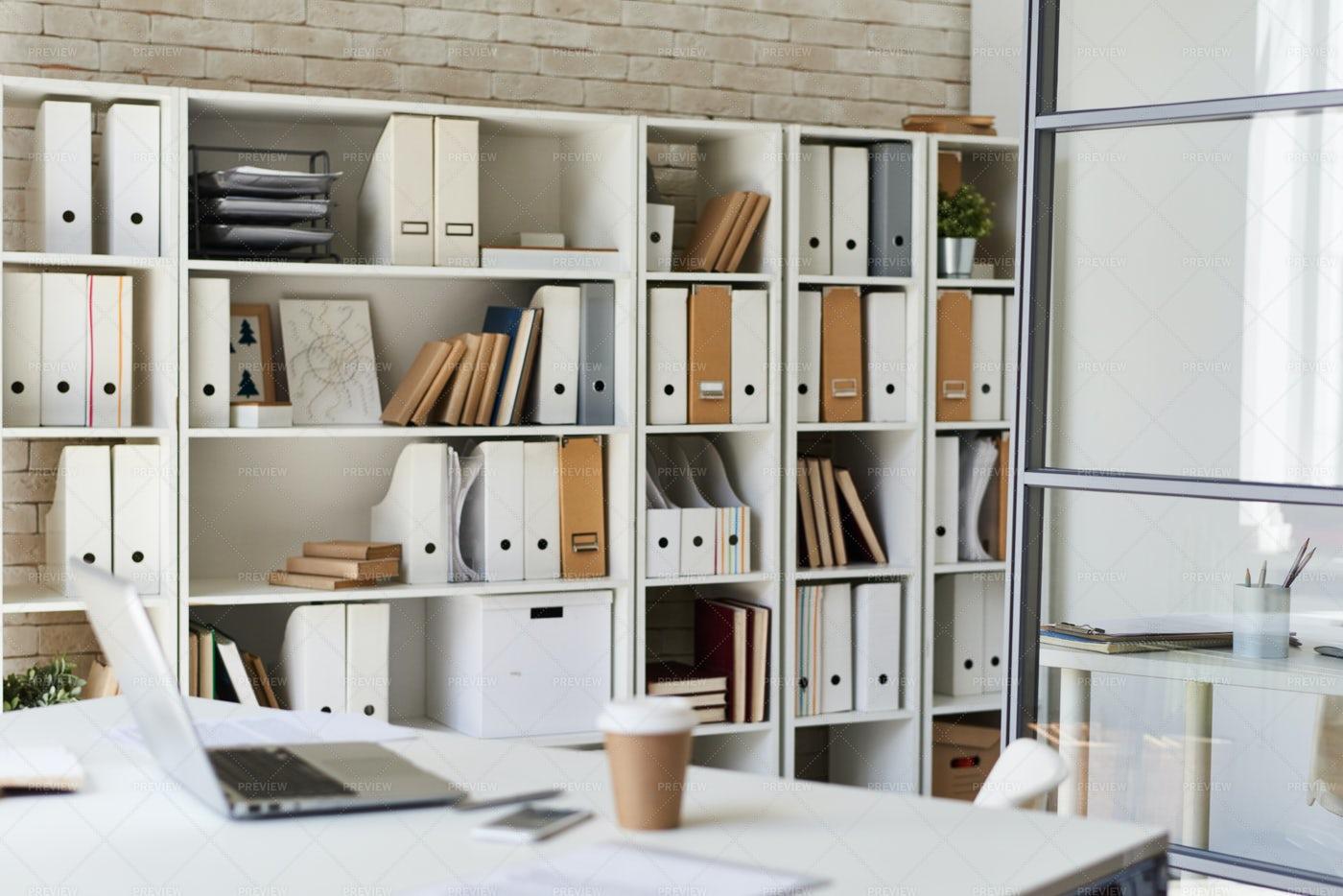 Modern White Office: Stock Photos