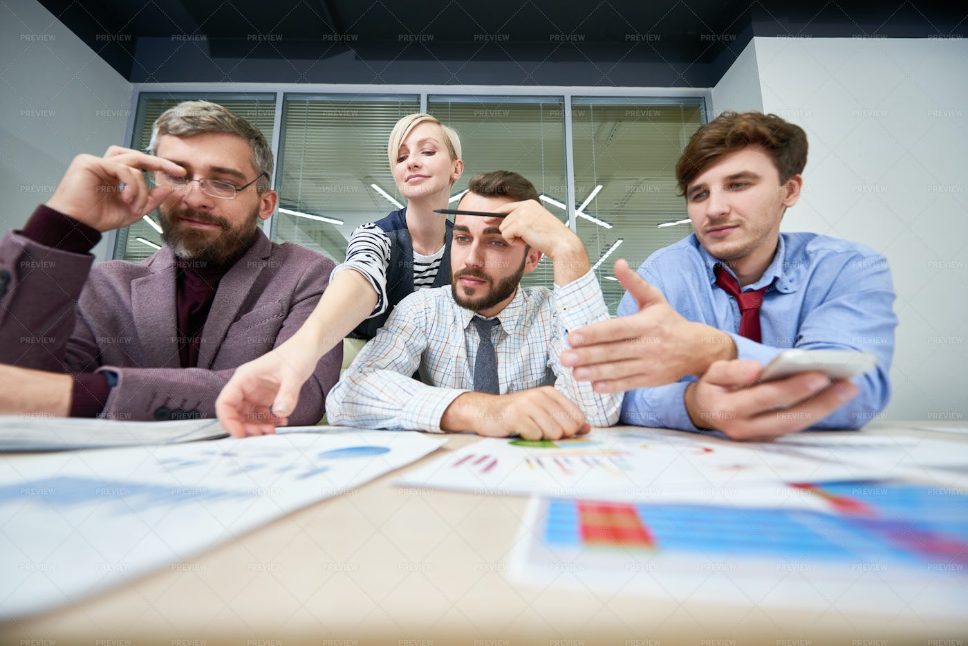 Business Analytics Meeting  In...: Stock Photos