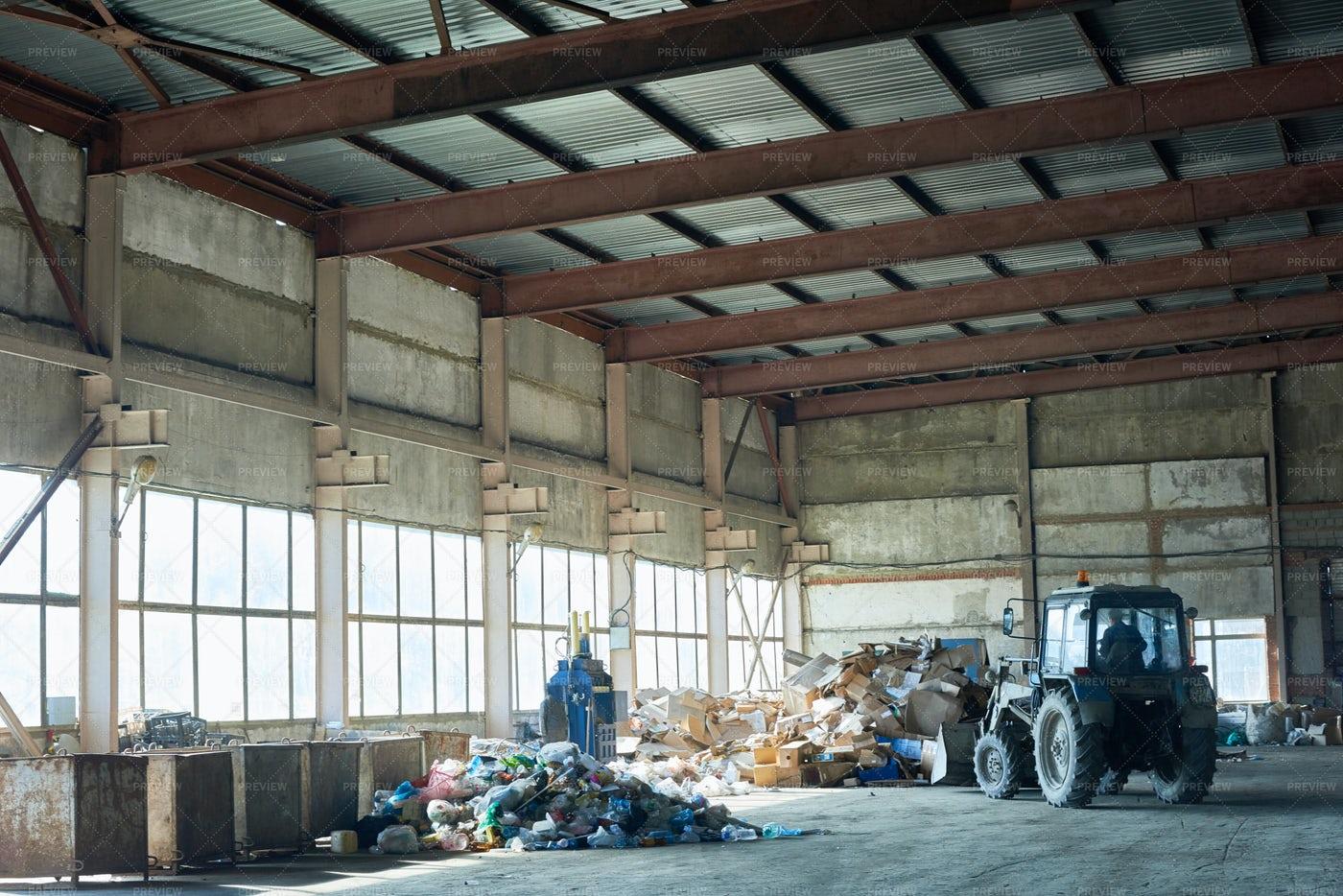 Storage On Waste Processing Plant: Stock Photos