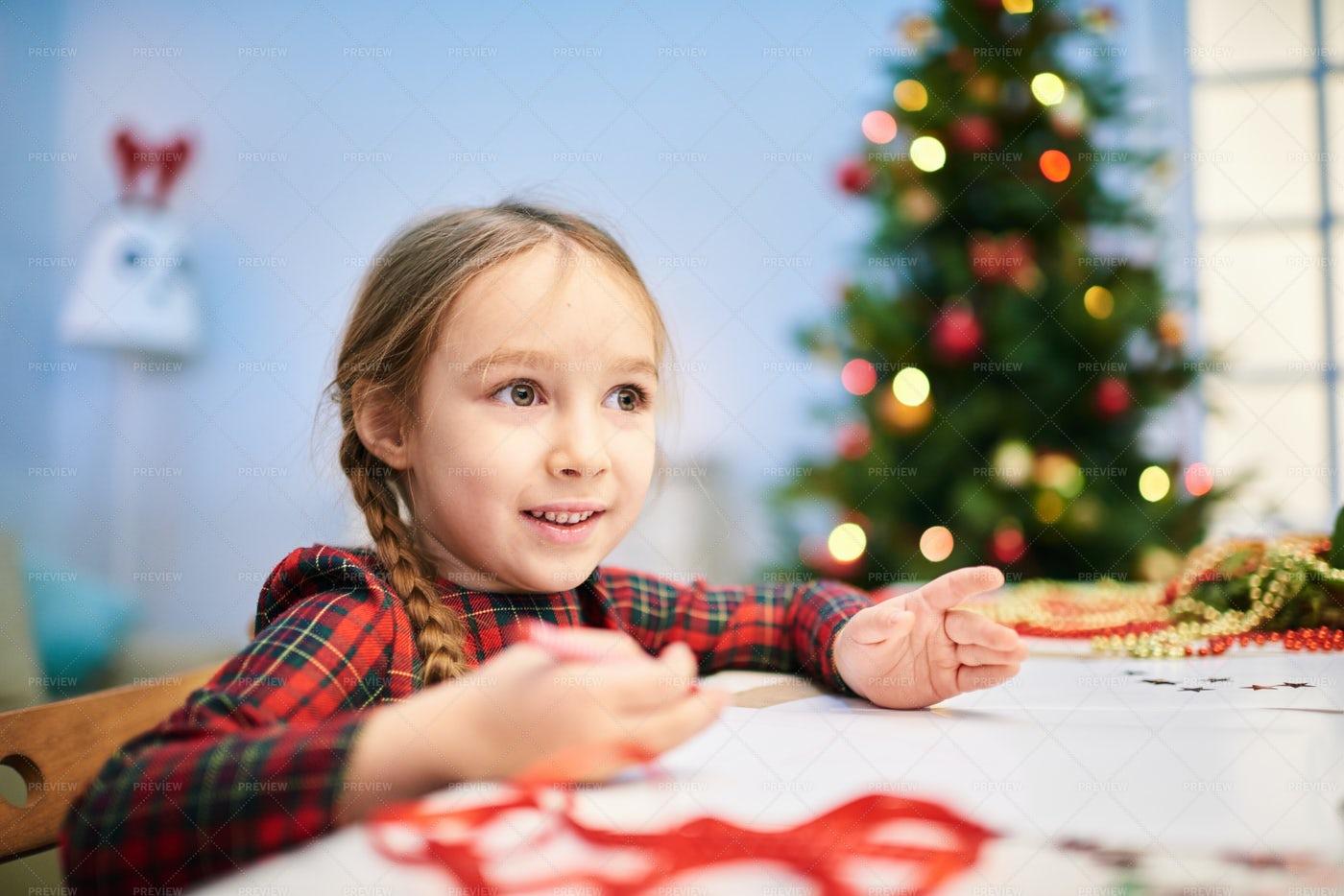 Drawing Christmas Card: Stock Photos