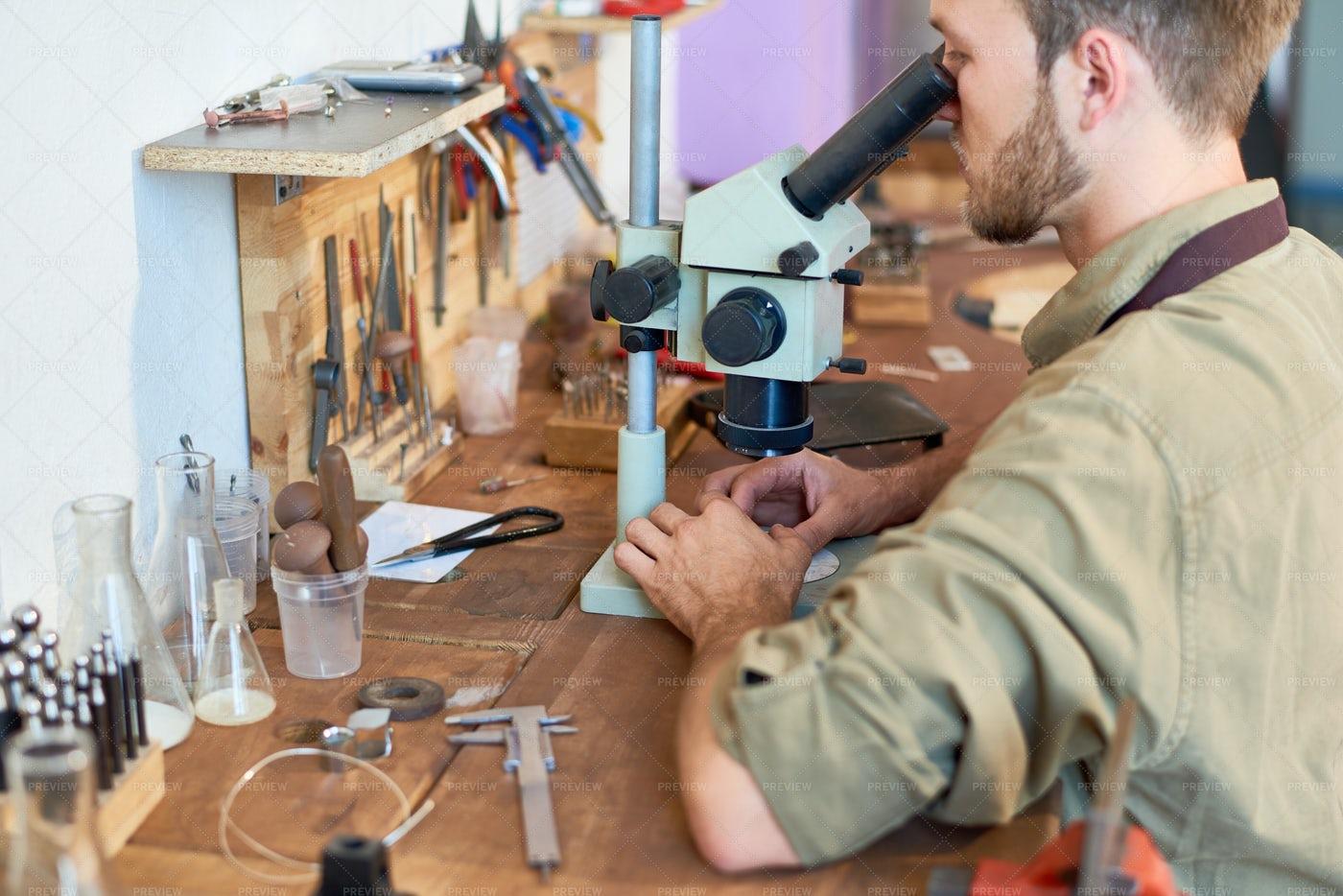 Appraiser Inspecting Stones: Stock Photos