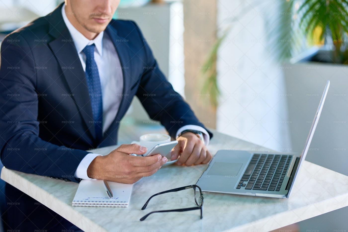 Modern Businessman Holding...: Stock Photos