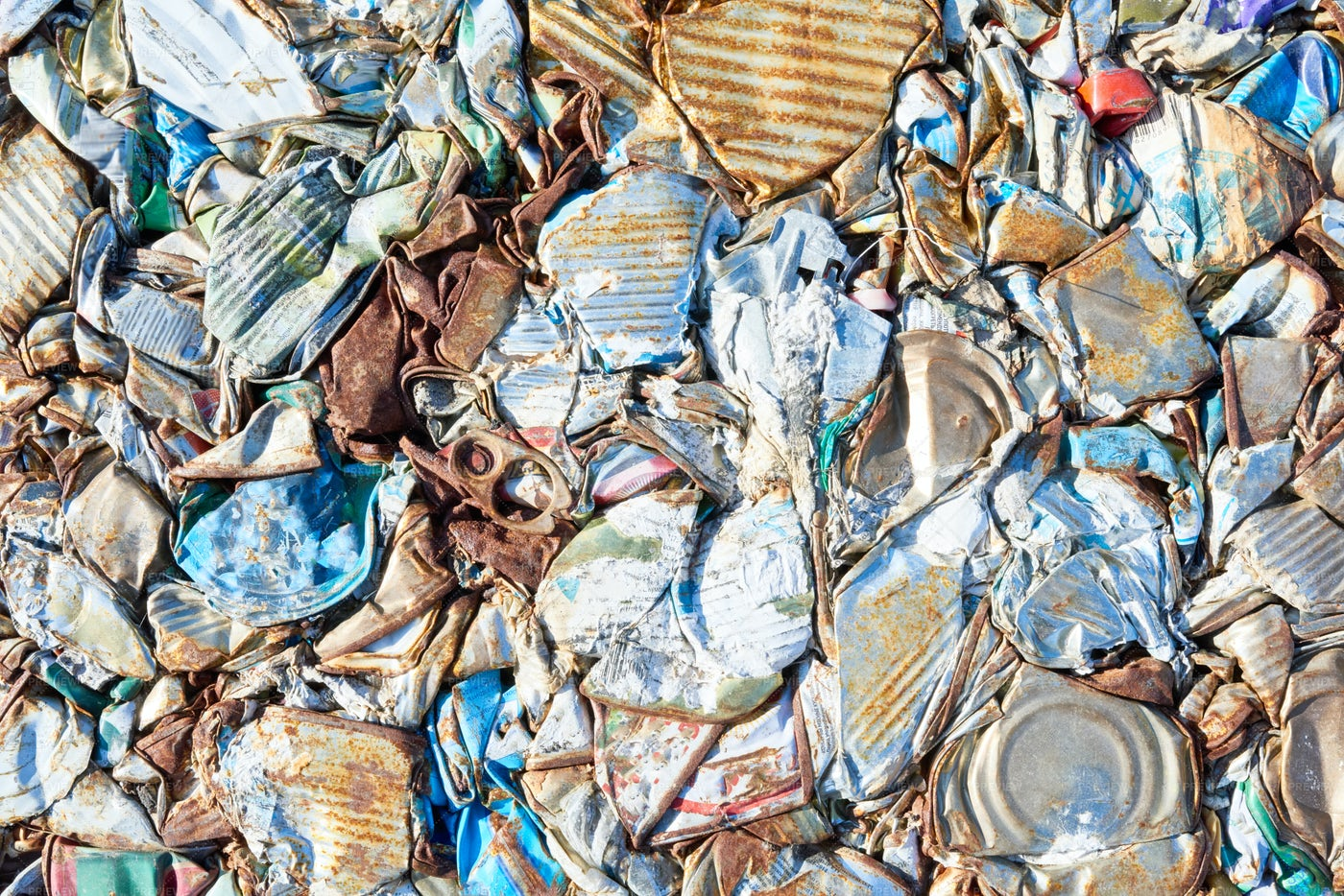 Packed Trash At Waste Processing...: Stock Photos