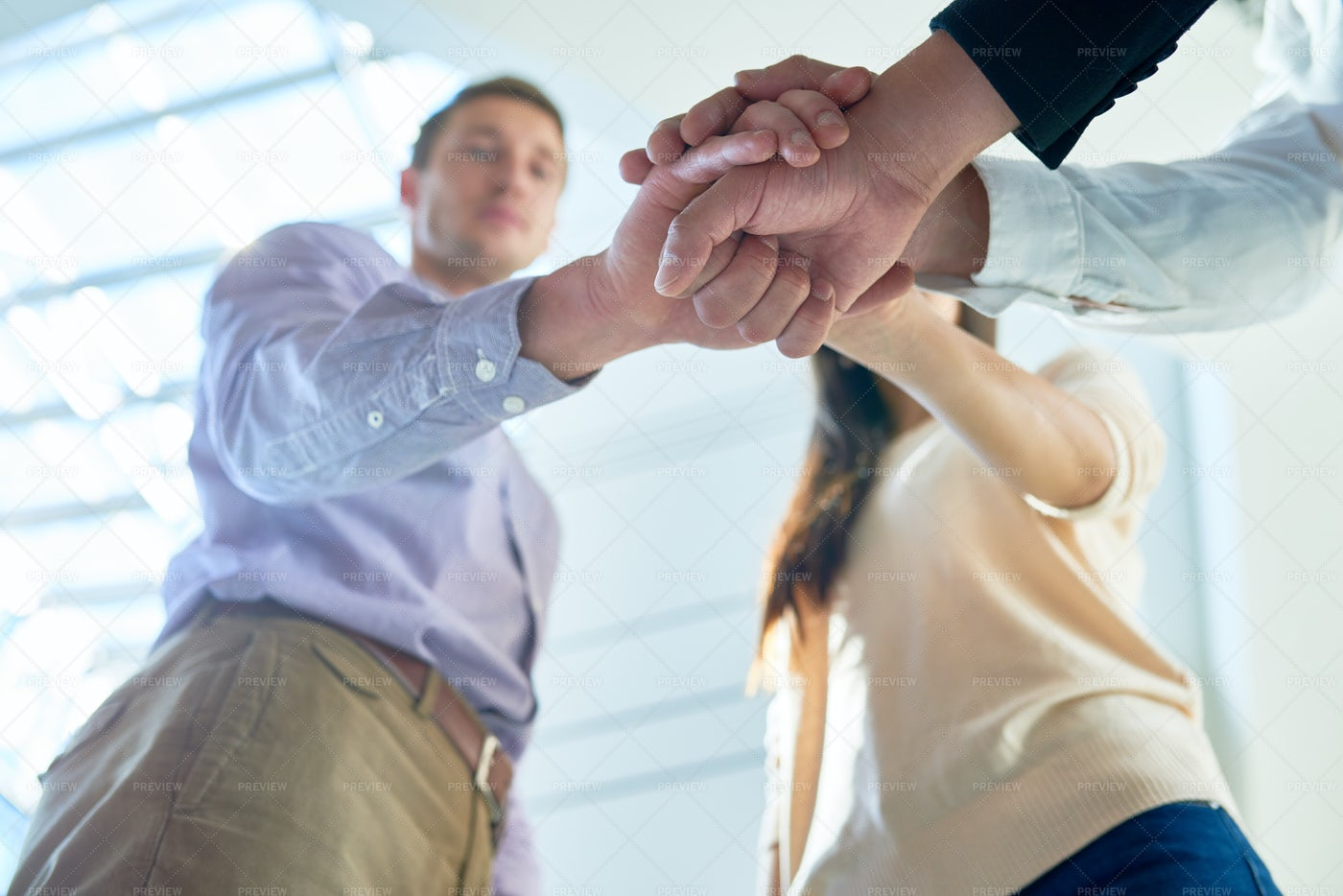Joining Hands Together: Stock Photos