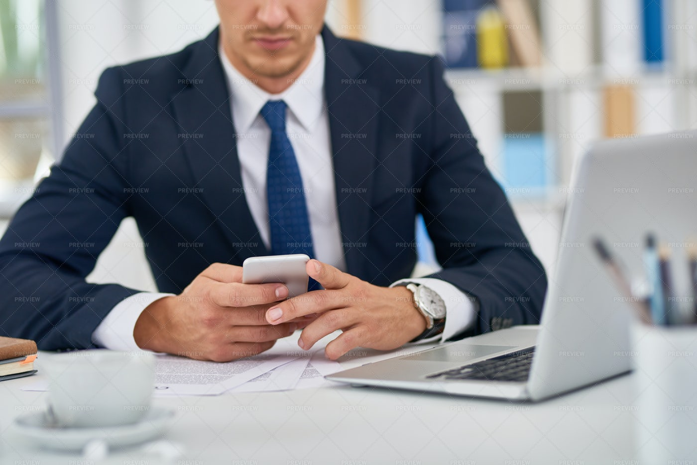Business Person With Smartphone: Stock Photos
