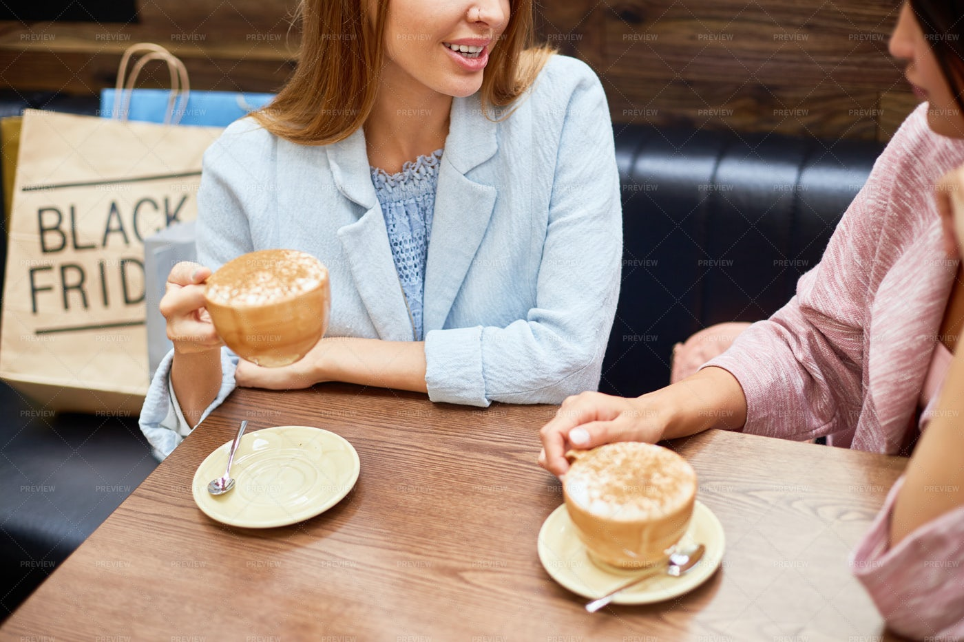 Young Women In Coffee Shop: Stock Photos