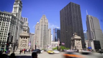 Chicago Traffic Time-lapse: Stock Video