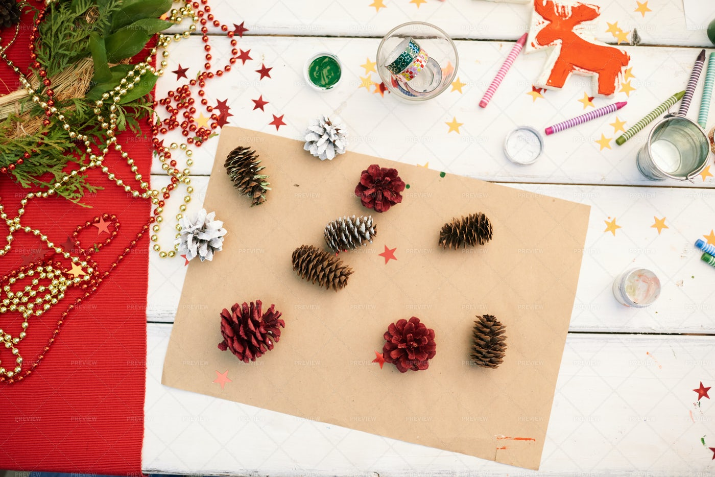 Pleasant Preparations Of Christmas...: Stock Photos