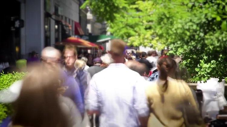 People Walking Time-lapse: Stock Video
