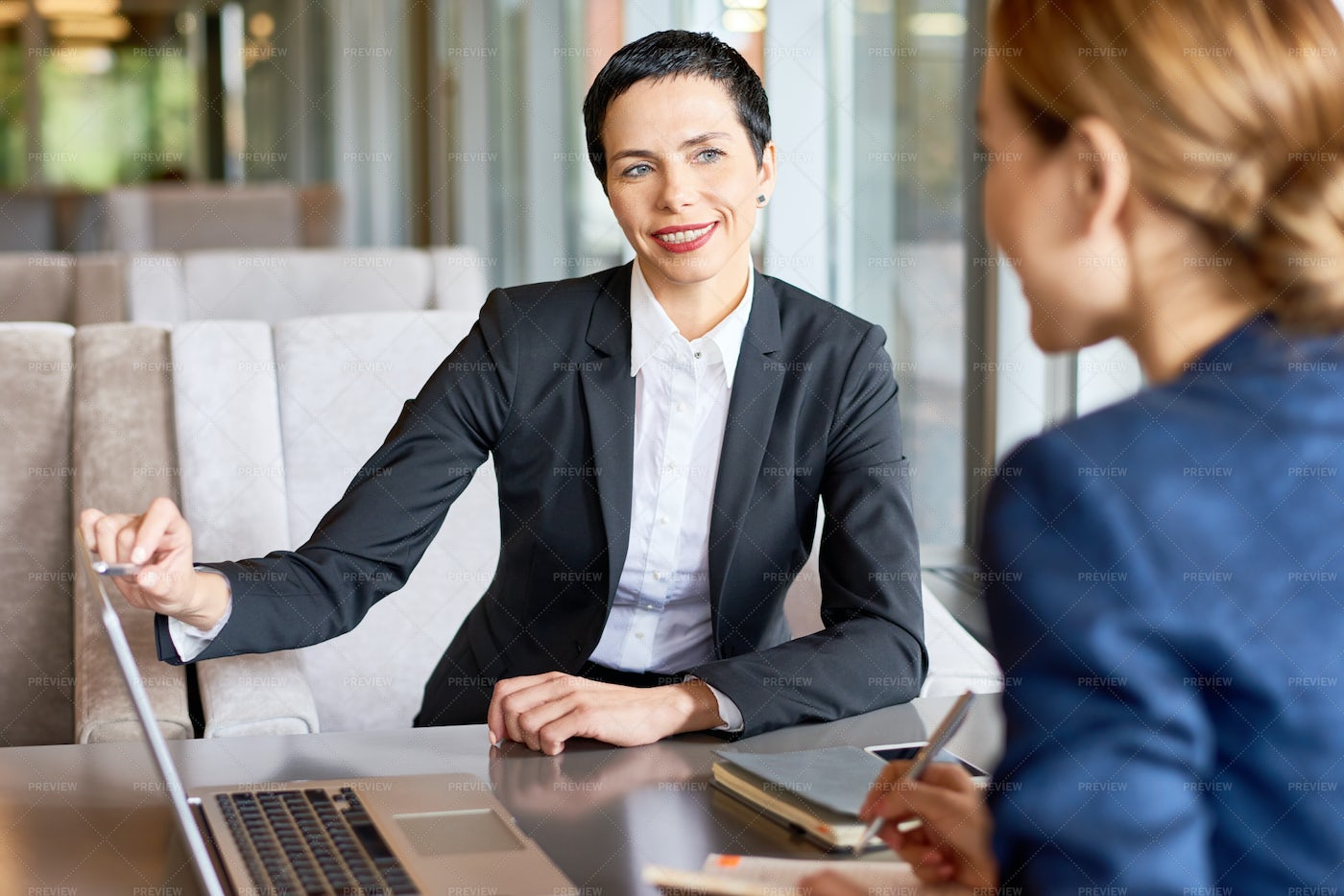 Joint Work Of Financial Managers: Stock Photos