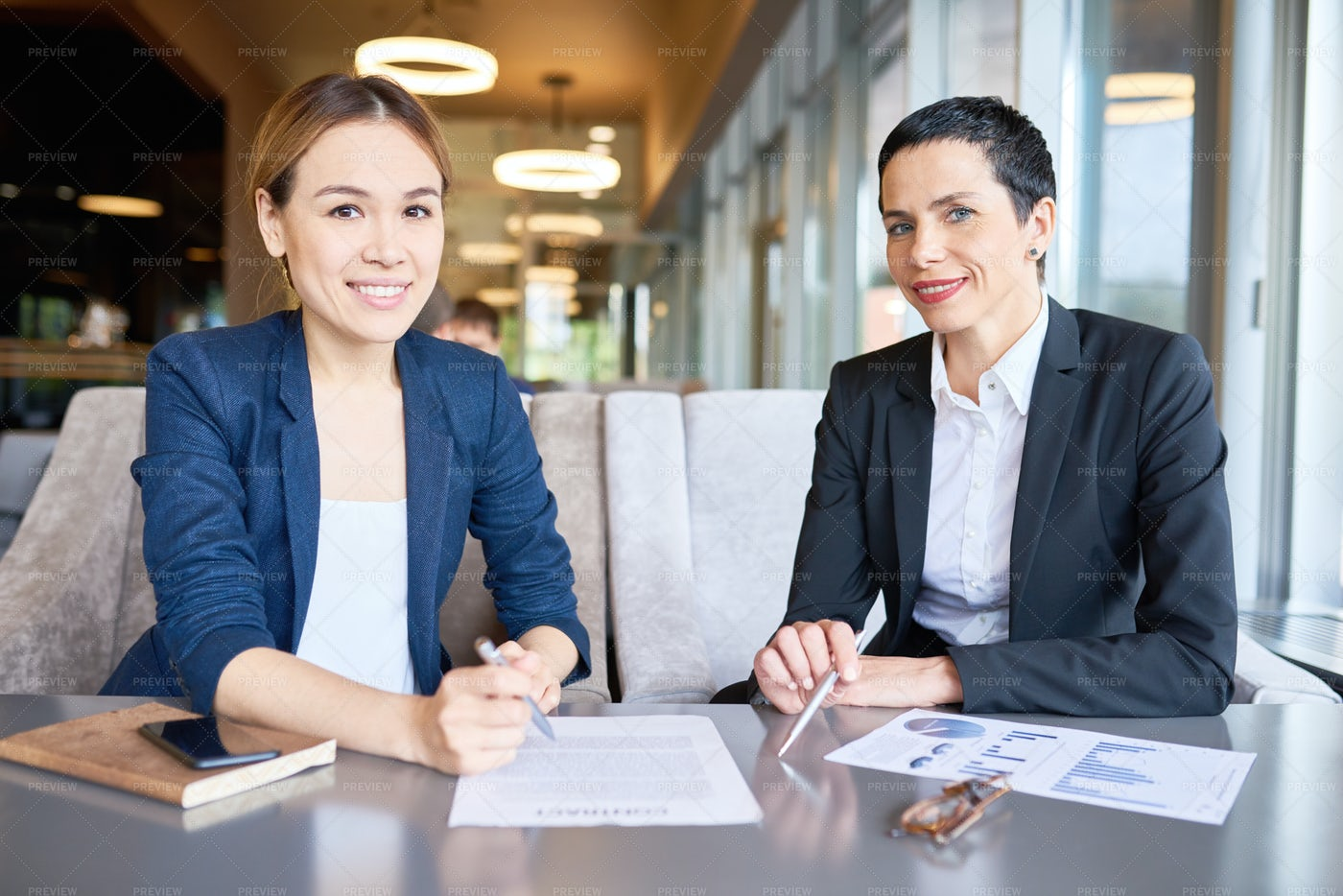 Productive Meeting Of Business...: Stock Photos