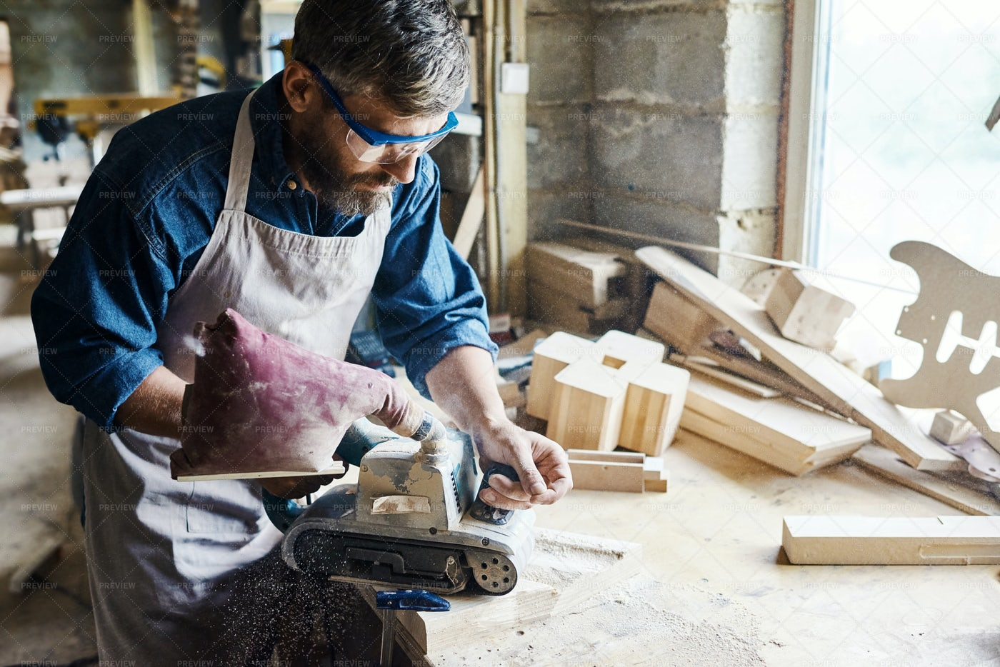 Restoring Wooden Furniture: Stock Photos
