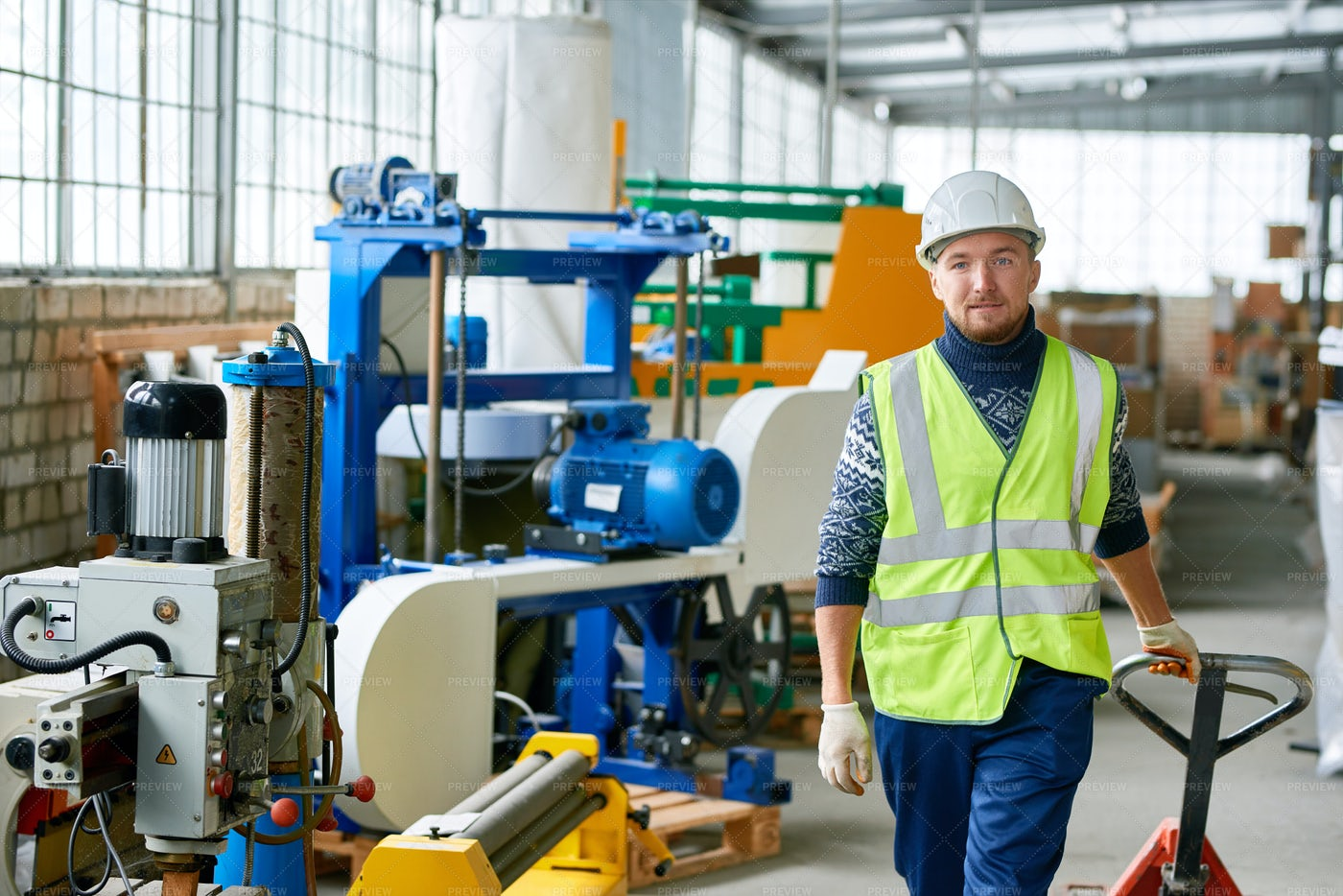 Young Worker At Factory: Stock Photos