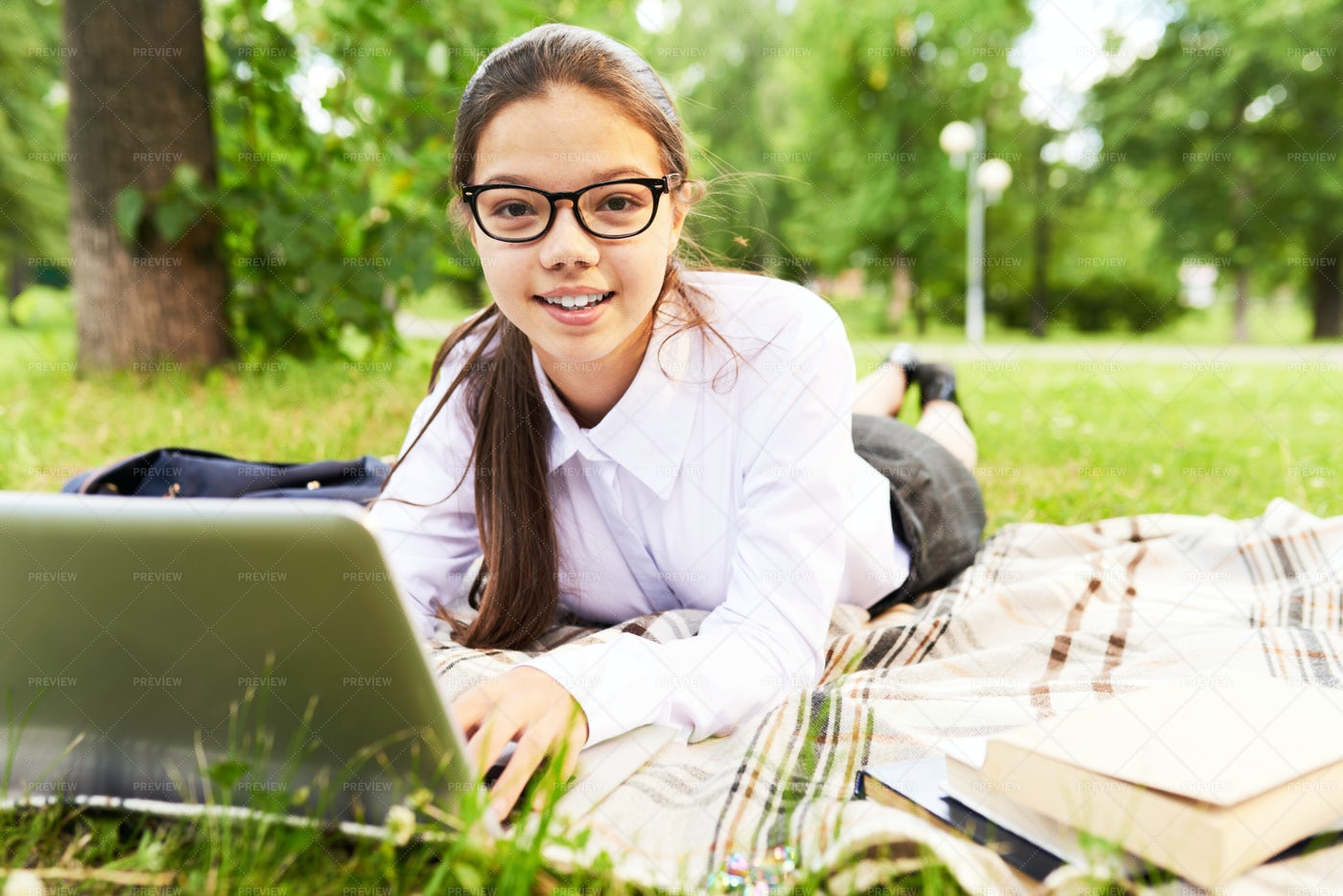 Pretty Young Researcher Posing For...: Stock Photos